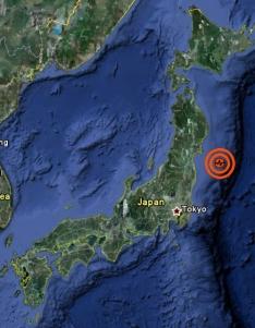 Epizentrum Erdbeben Sendai